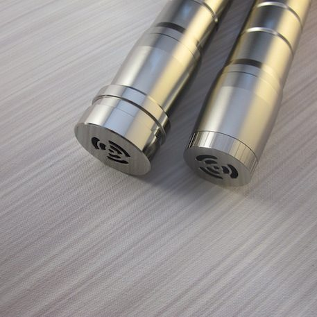 The Manticore Pommel Options High Profile (Left), Low Profile (Right)