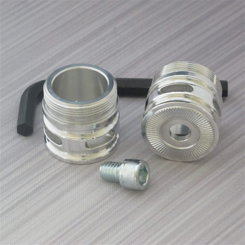 Flush Silver Finish Coupler with Vents (Adjustable)