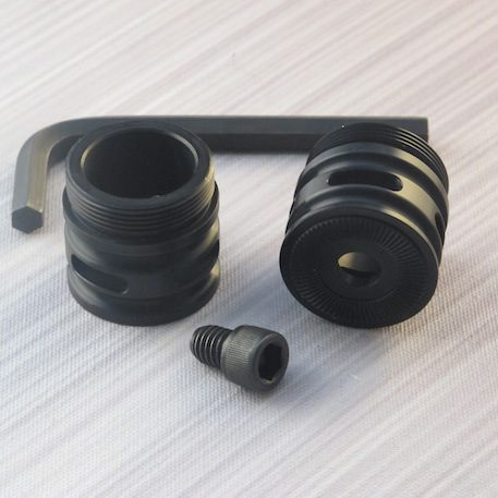 Adjustable Black Flush Coupler  With vents for sabers with sound