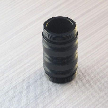 Black Flush Coupler  No vents, for Stunt Sabers (No Sound)