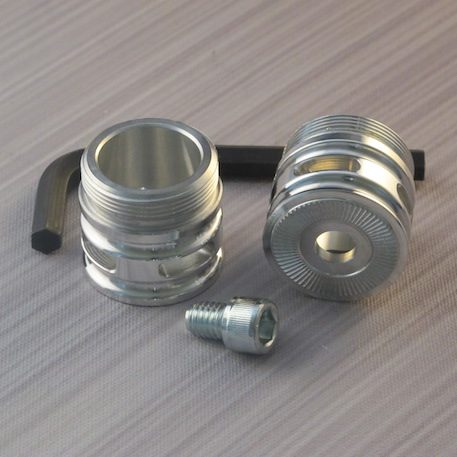 Adjustable Silver Flush Coupler  With vents for sabers with sound