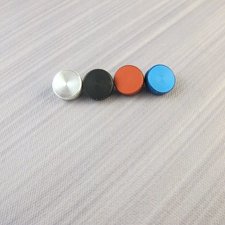 Menace Knurled Screws (from Left to Right: Silver, Black, Red, Blue)