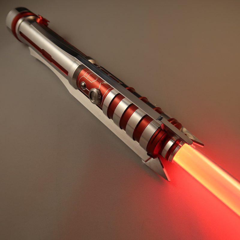 Crimson Butcher Custom Lightsaber Emitter Down Illuminated