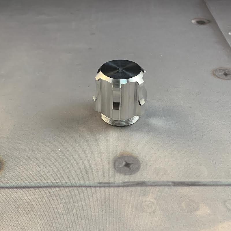 Aeon v5 Pommel for Custom Lightsaber Solid Bottom View