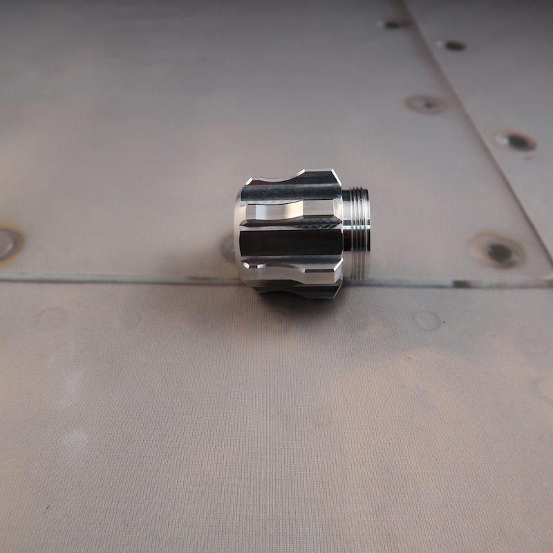 Aeon v5 Pommel for Custom Lightsaber Vented Profile View