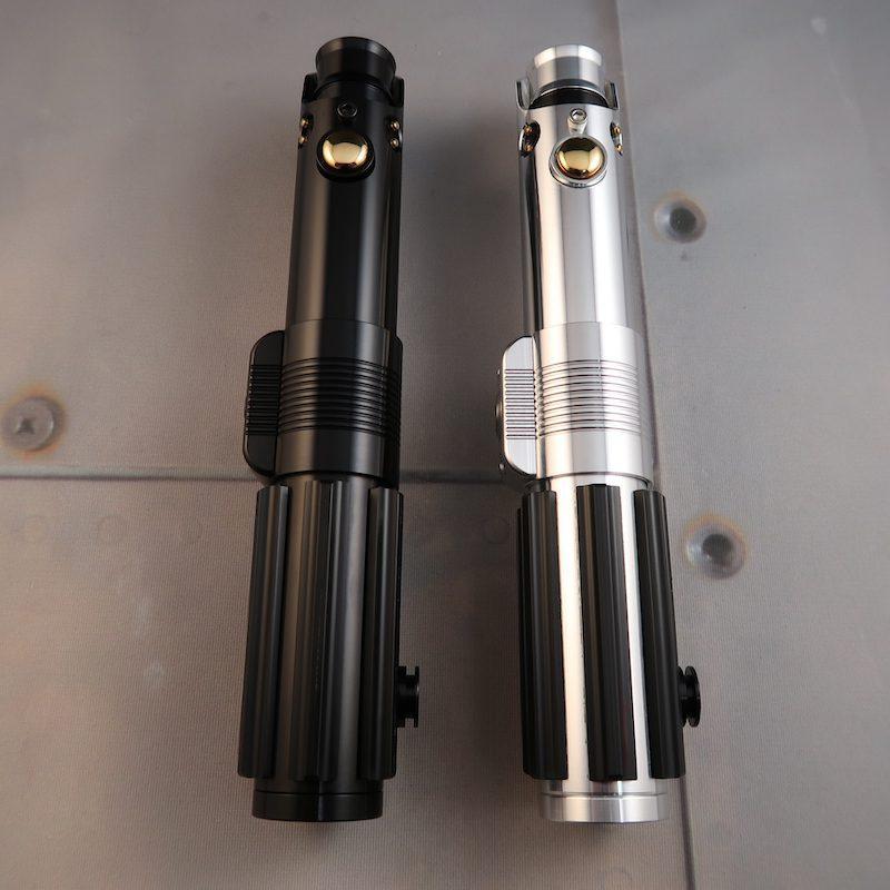 The Dark Graflex (left) & Polished Aluminum Graflex SE (Right)