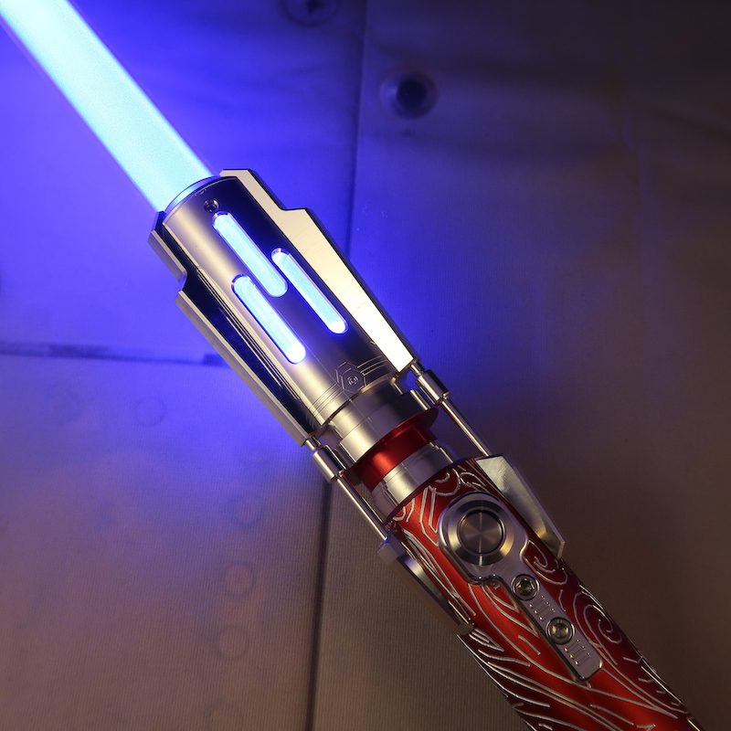 Crimson Grand Master Lightsaber Emitter Ignited