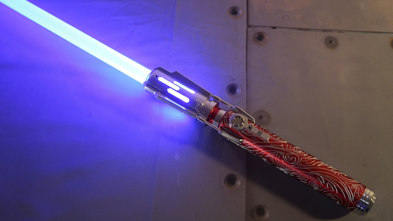 Crimson Grand Master Lightsaber Full View