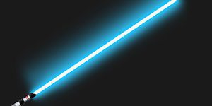 Glowing Blue Lightsaber