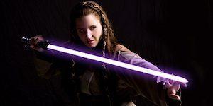 Jaina Solo with Purple Lightsaber