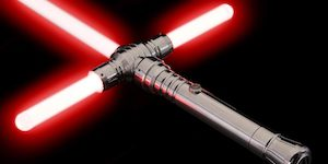 Red Crossguard Lightsaber