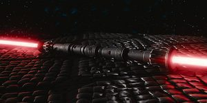 Red Double Bladed Lightsaber