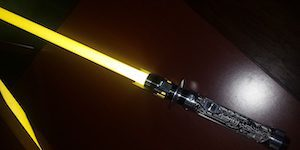 Yellow Lightsaber with Black Hilt