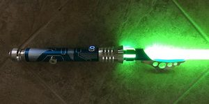 Glowing Green Azure Reaper Lightsaber