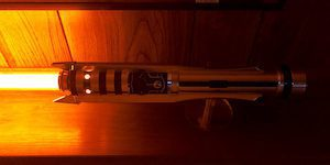 Glowing Red Lightsaber