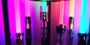 Row of Multi-Colored Lightsabers