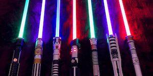 Seven Multi-Colored Lightsabers