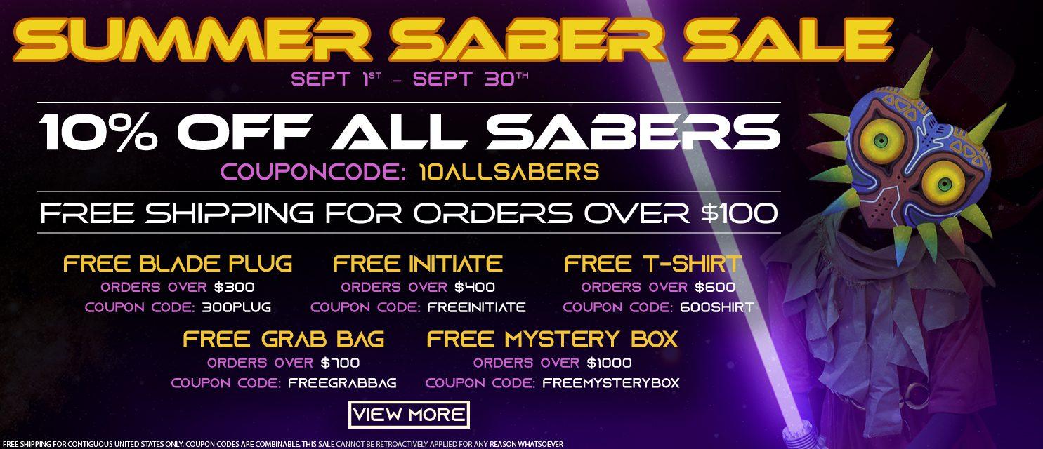 Summer Saber Sale Banner