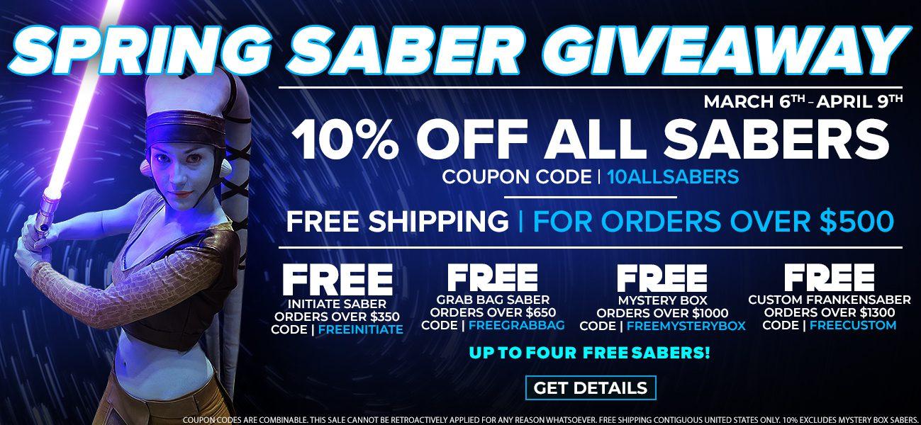 Ultrasabers Spring Saber Giveaway Hero Banner!