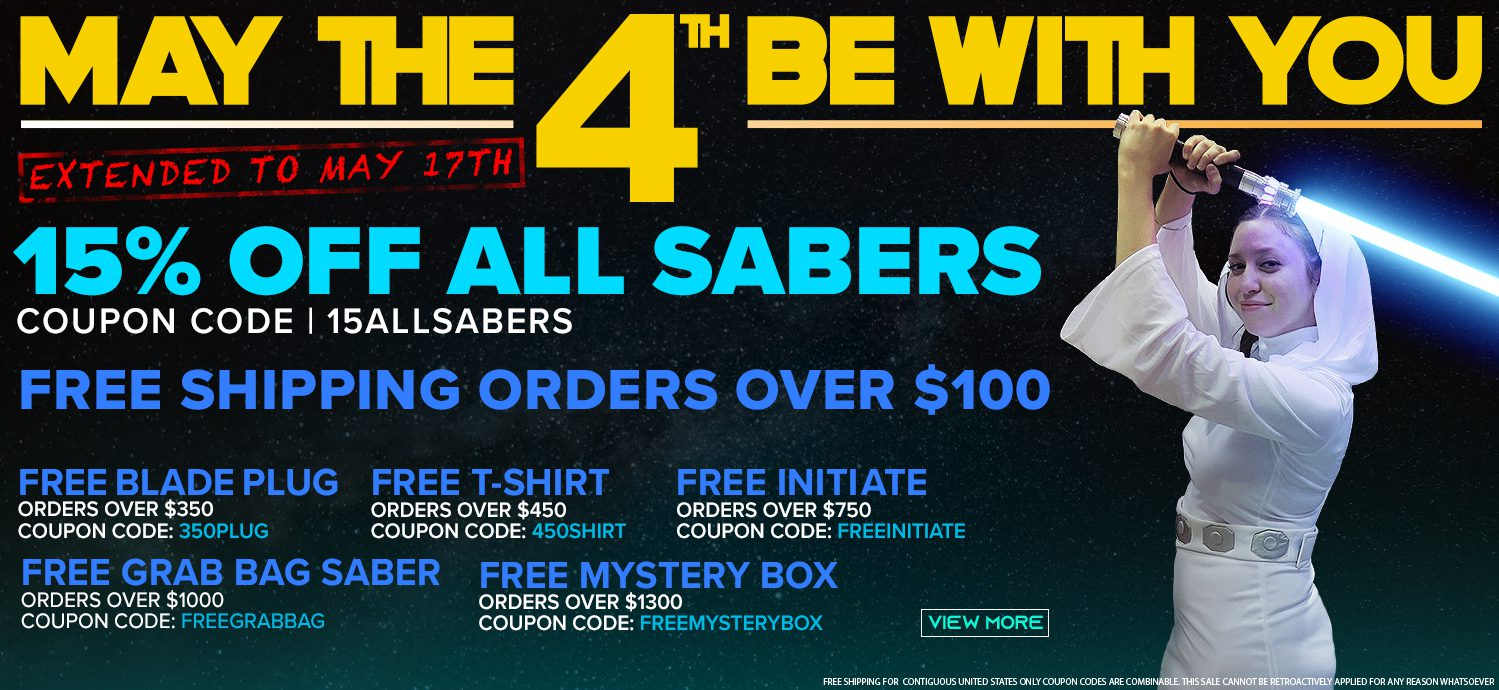 Ultrasabers May the Fourth Sales Event!