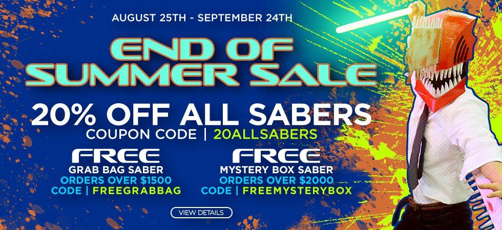 End of Summer Saber Sale